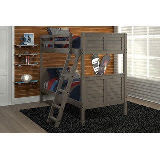 Pine Ridge Gray Louvered Bunk Bed
