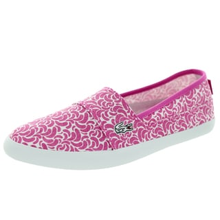 Lacoste Women's Marice Lmc Spw Pink/White Loafers & Slip-Ons Shoe