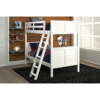 Pine Ridge White Louvered Bunk Bed