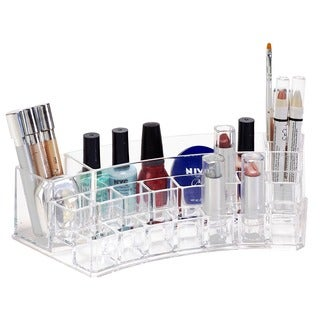 Simplify Crystal Clear Curved 19-section Acrylic Organizer