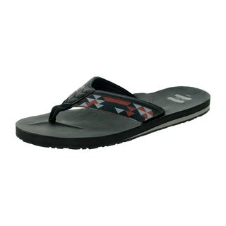 Toms Men's Verano Flip Flop Black/Brown Sandal