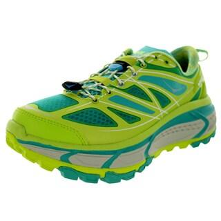 Hoka One One Women's W Mafate Speed Acid/Agua/Grey Running Shoe