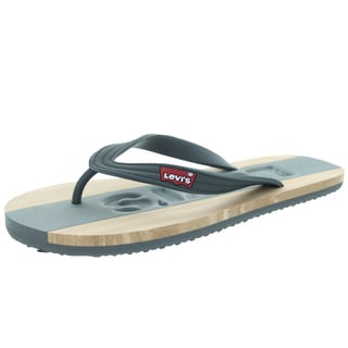 Levi's Men's Jayden Charcoal/Tan Sandal 10 Men's Us