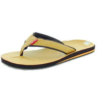Levi's Men's Kyle J Tan/Dark Brown Sandal 7 Men's Us