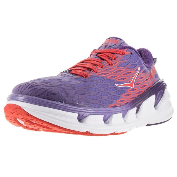 6d398111eccf67 Shop Hoka One One Women s Vanquish 2 Corsican Blue Poppy Red Running ...