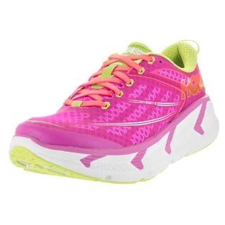 Hoka One One Women's W Odyssey 2 Fushia/Neon Coral Running Shoe