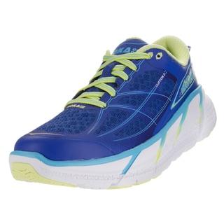 Hoka One One Women's W Clifton 2 True Blue/Sunny Lime Running Shoe