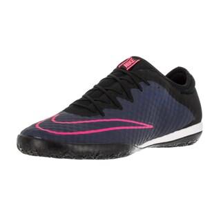 Nike Men's Mercurialx Finale Ic Mid Navy/Mid Navy/Black/Pink Blast Indoor Soccer Shoe