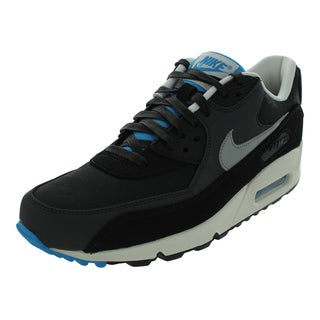 Nike Air Max 90 Premium Running Shoes (Black/Matte Silver/Sail/Black)
