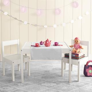 Baby Relax Hunter White 3-piece Kiddy Table & Chair Set