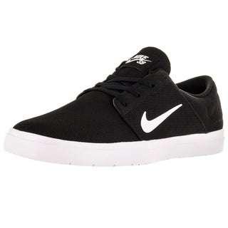 Nike Men's Sb Portmore Ultralight Black/White/Black Skate Shoe