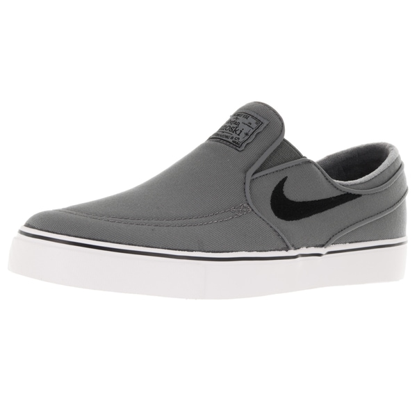 c1bb92352af4f Shop Nike Men s Zoom Stefan Janoski Slip Cnvs Cool Grey Black White Skate  Shoe - Free Shipping Today - Overstock - 12328596