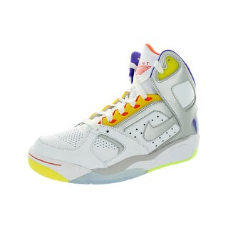 Nike Men's Air Flight Lite High White/Metallic Silver/Hyper Grp/Hpr Basketball Shoe
