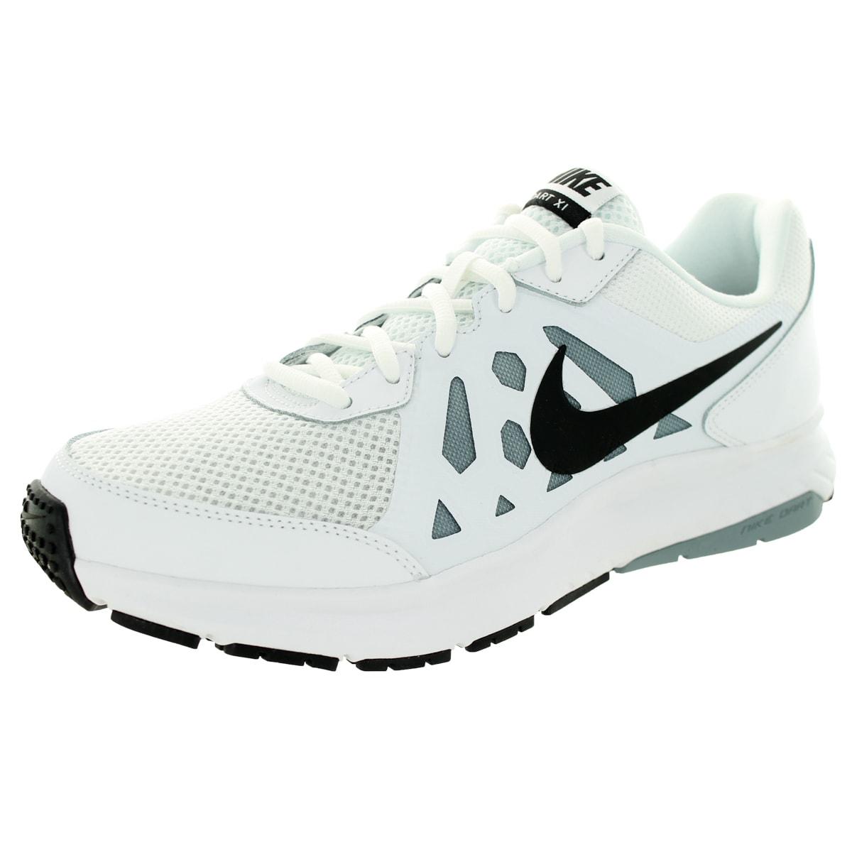 Nike Men's Dart 11 White/Black/Dove Grey/White Running Sh...