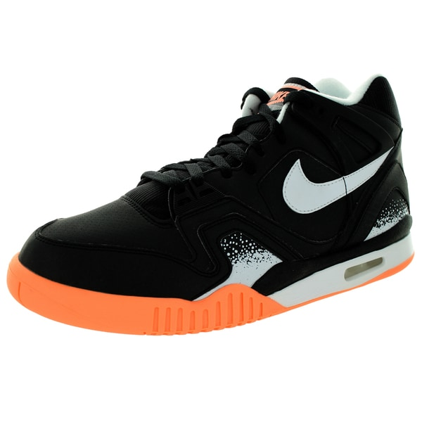 edaa2e97f33 Shop Nike Men s Air Tech Challenge Ii Black White Sunset Glow Tennis ...
