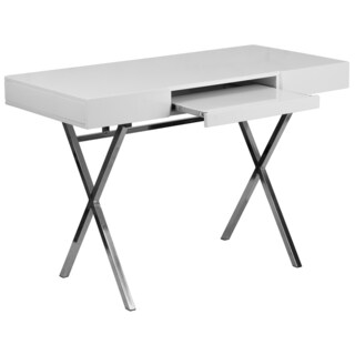 45.25-inch x 21.75-inch Computer Desk with Keyboard Tray and Drawers