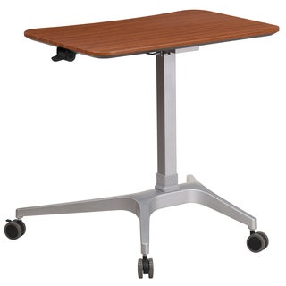 Mobile Sit-Down, Stand-Up Computer Desk with 28.25-inch Top