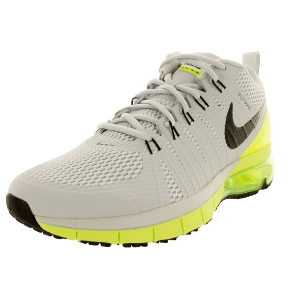16457c7608fc Shop Nike Men s Air Max Tr180 Pure Platinum Black Volt Training Shoe ...
