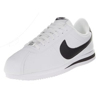 Nike Men's Cortez Basic Leather White/Black/Metallic Silver Casual Shoe