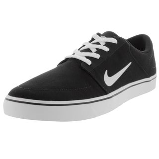 Nike Men's Sb Portmore Cnvs Black/White Skate Shoe