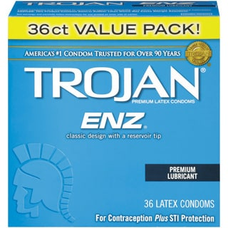 Trojan ENZ Latex 36-count Lubricated Condoms