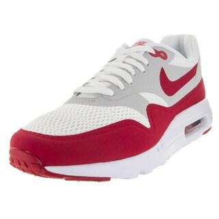 Nike Men's Air Max 1 Ultra Essential White/Vrsty Red/Ntrl /White Running Shoe