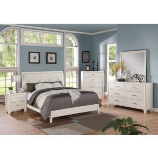 Acme Furniture Tyler 4 piece Cream and White Bedroom Set. White Bedroom Sets For Less   Overstock com