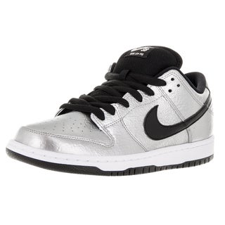 Nike Men's Dunk Low Premium Sb Metallic Silver/Black/White Skate Shoe