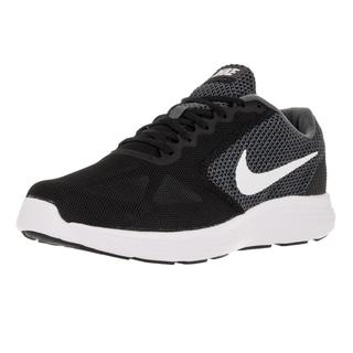Nike Men\u0027s Revolution 3 (4E) Wide Dark Grey/White Black Running Shoe