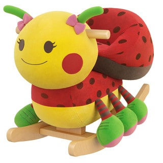 Gibson Living Sofia Ladybug Kids Rocker with Music