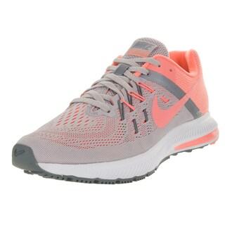 Nike Women's Zoom Winflo 2 Vlt Ash/Atmc Pink/ Grey/C Running Shoe