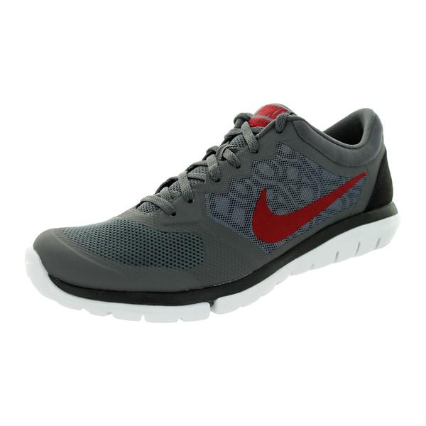 8a4246e6f782 Shop Nike Men s Flex 2015 Dark Grey Gym Red Black White Running Shoe ...