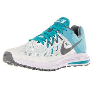 Nike Women's Zoom Winflo 2 Sail/ Hematite/Gmm Bl/White Running Shoe