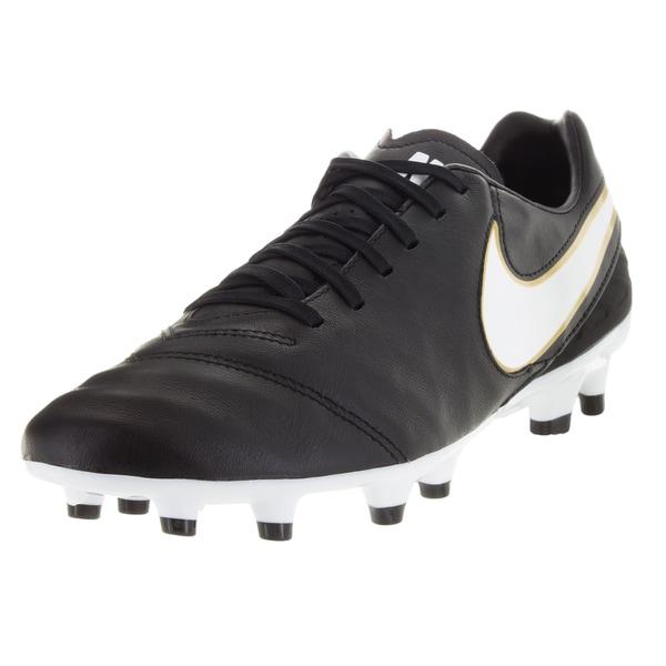 arrives bcb6a bb488 Nike Men  x27 s Tiempo Mystic V Fg Black White Metallic Gold