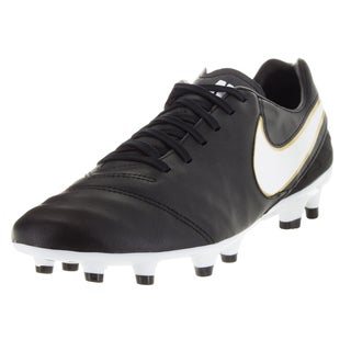 Nike Men's Tiempo Mystic V Fg Black/White/Metallic Gold Soccer Cleat