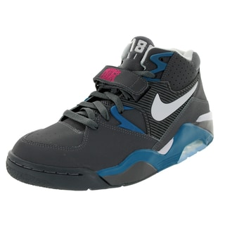 Nike Men's Air Force 180 Dark Grey/White/G Abyss/Vvd Pn Basketball Shoe