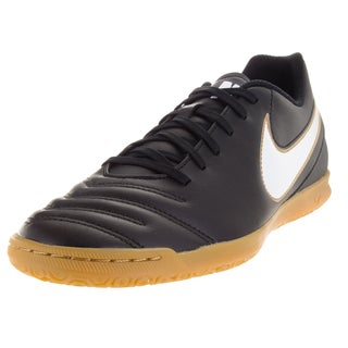 Nike Men's Tiempo Rio Iii Ic Black/White/Metallic Gold Indoor Soccer Shoe