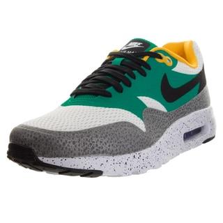 Nike Men's Air Max 1 Ultra Essential White/Black/Emrld G/Rflct Slvr Running Shoe
