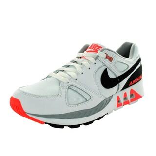 Nike Men's Air Stab White/Black/Hot Lava Running Shoe