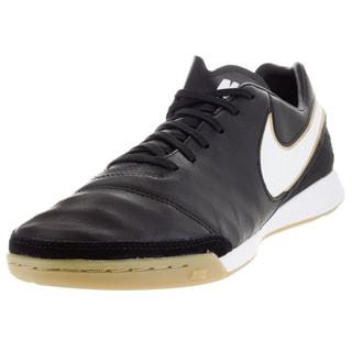 Nike Men's Tiempo Mystic V Ic Black/White/Metallic Gold Indoor Soccer Shoe