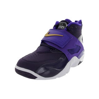 Nike Men's Air Diamond Turf Purple y/Mlc Gld/Elctr Pr Training Shoe