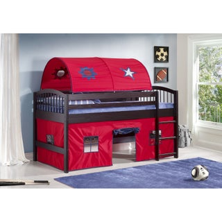 Alaterre Addison Junior Loft Tent Bed with Playhouse, Solid Wood
