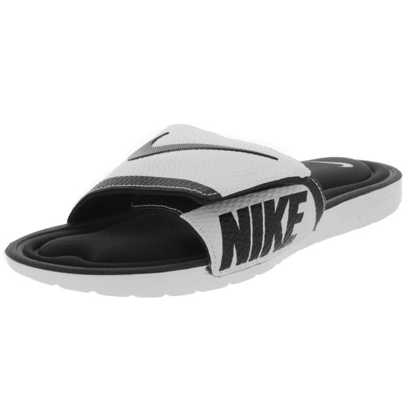 0a0017ecc3a626 ... Men s Athletic Shoes. Nike Men  x27 s Solarsoft Comfort Slide Black White  Sandal
