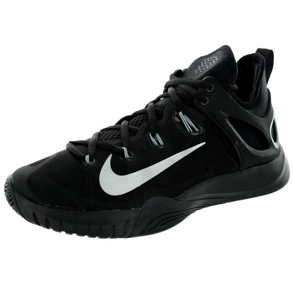 buy online 4b27f fa2f5 Nike Men  x27 s Zoom Hyperrev 2015 Black Metallic Silver Basketball Shoe
