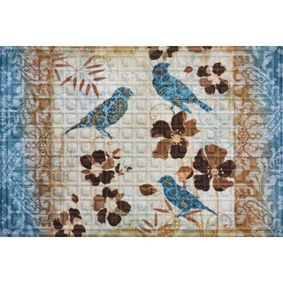 Oakland Collection Blue Birds Nonslip Indoor/Outdoor Doormat