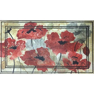 All Season Poppies Nonslip Indoor/Outdoor Doormat (22 inches x 34 inches)