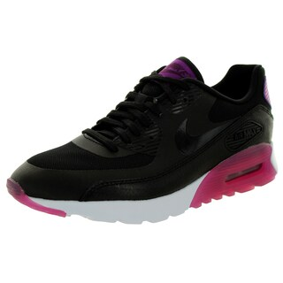 Nike Women's Air Max 90 Ultra Essential Black/Black/Purple Dusk/Mlbrry Running Shoe