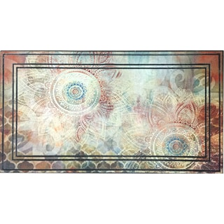 All Season Boho Study Floral Nonslip Indoor/Outdoor Doormat