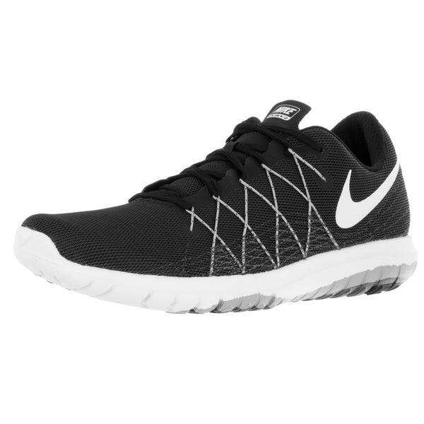 8c39cef78e08 Shop Nike Men s Flex Fury 2 Black White Wolf Grey Drk Grey Running ...