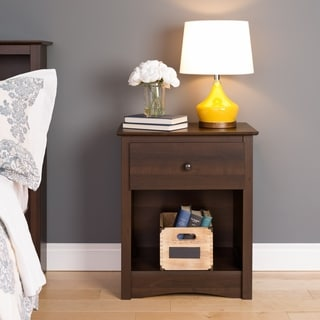 Everett Espresso 1-drawer Tall Nightstand